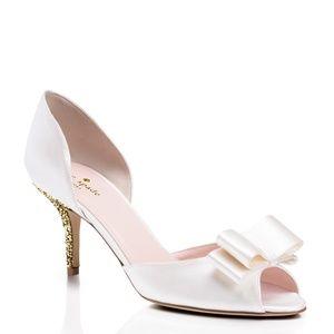 Kate Spade New York Sela Heels Size 9 Ivory Satin
